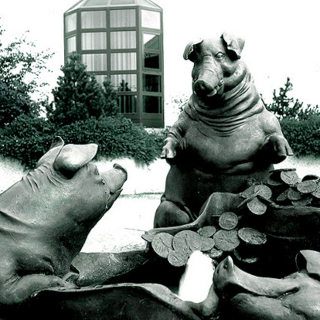 Sparschweinbrunnen 1983